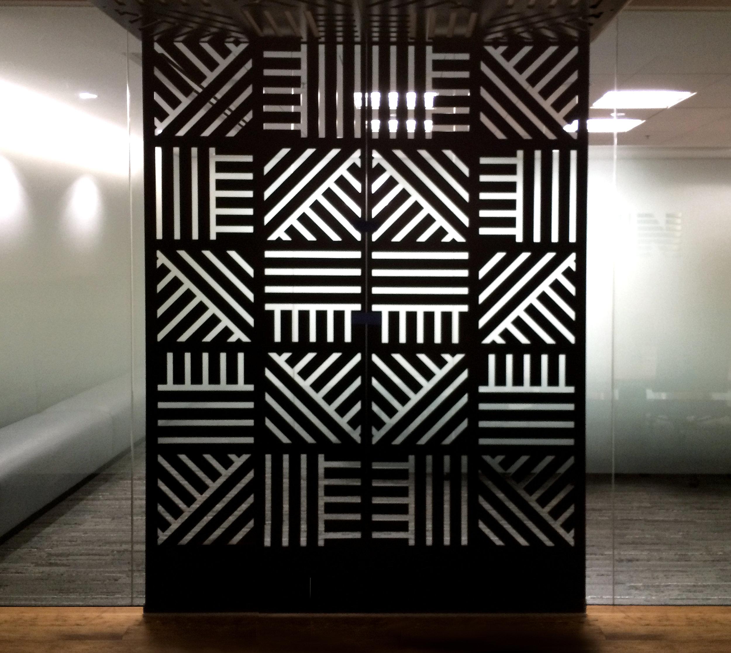 Skyline Construction   Custom Pattern, Wall Partition