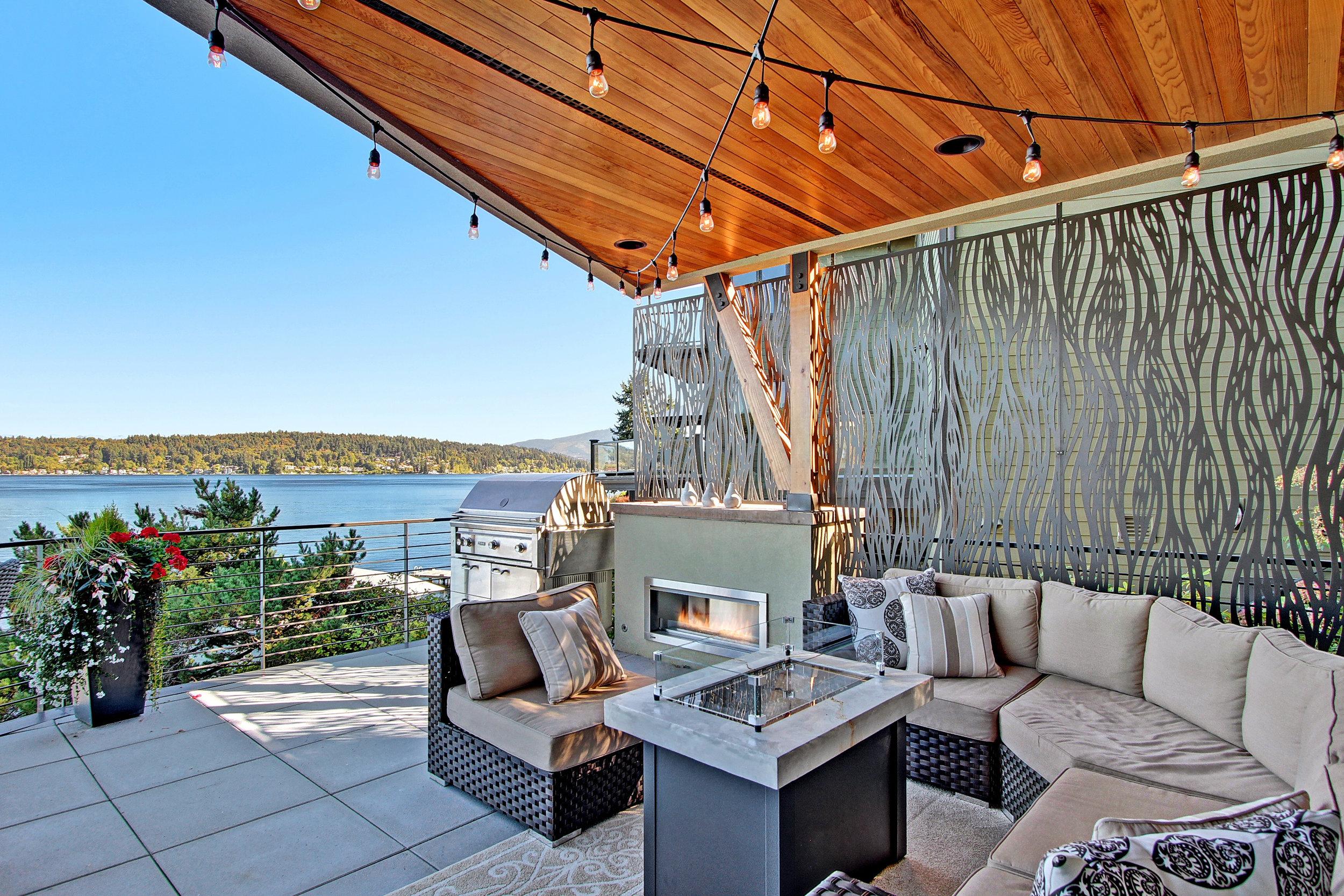 Residence   Waterfall pattern, Metal outdoor panels