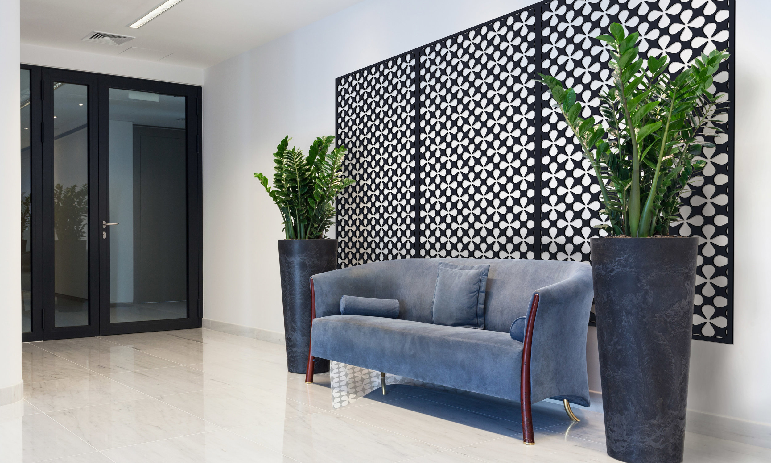 Installation Rendering B   Atomic decorative office wall panel - painted