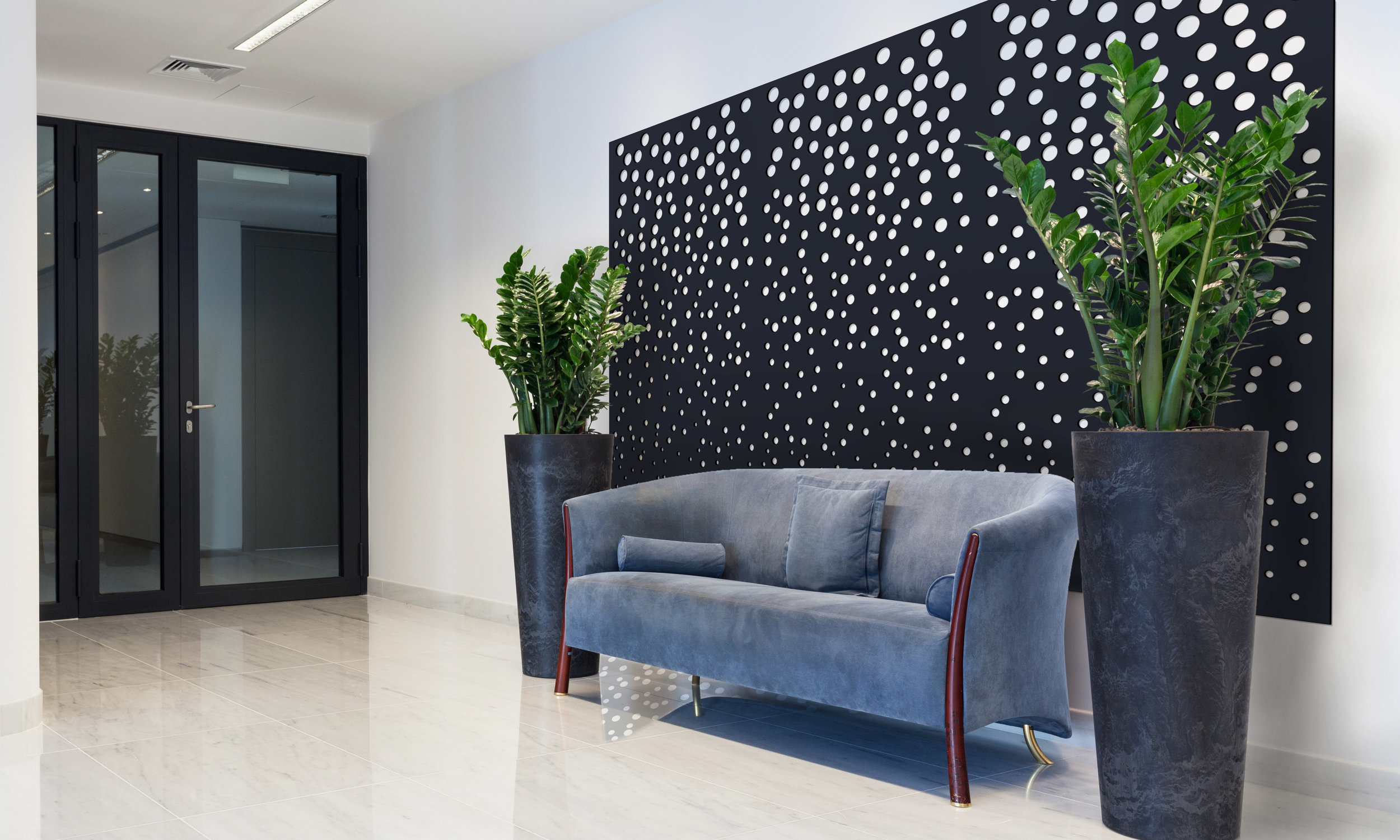 Installation Rendering B   Casablanca decorative office wall panel - painted