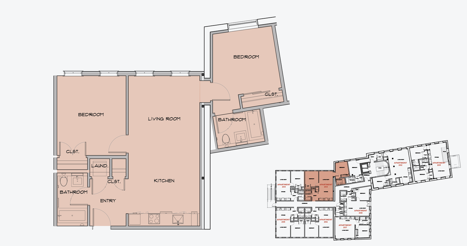 APARTMENT 203  2 BEDROOM, 2 BATH   APPLY NOW