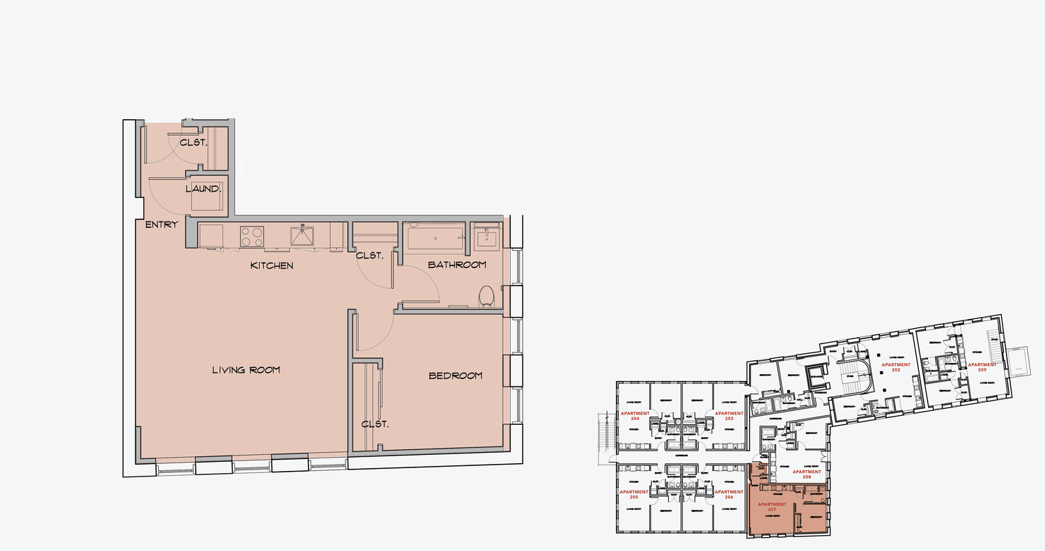 APARTMENT 207  1 BEDROOM, 1 BATH   APPLY NOW