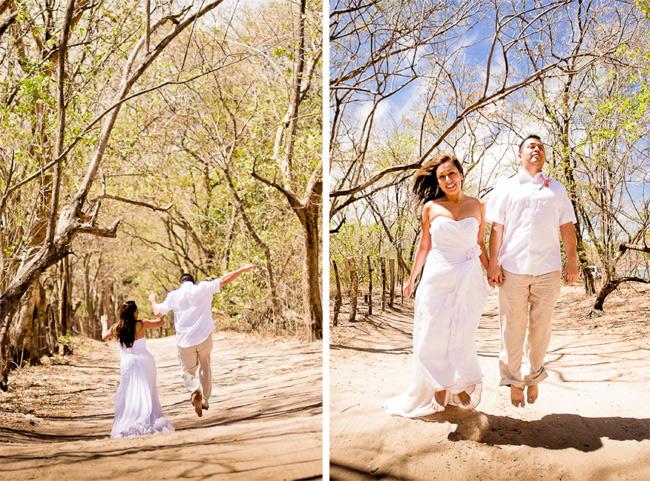 Jumping Wedding Photos Costa Rica