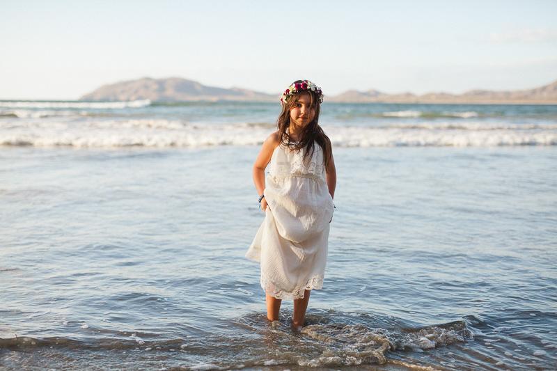 flower girl in the ocean