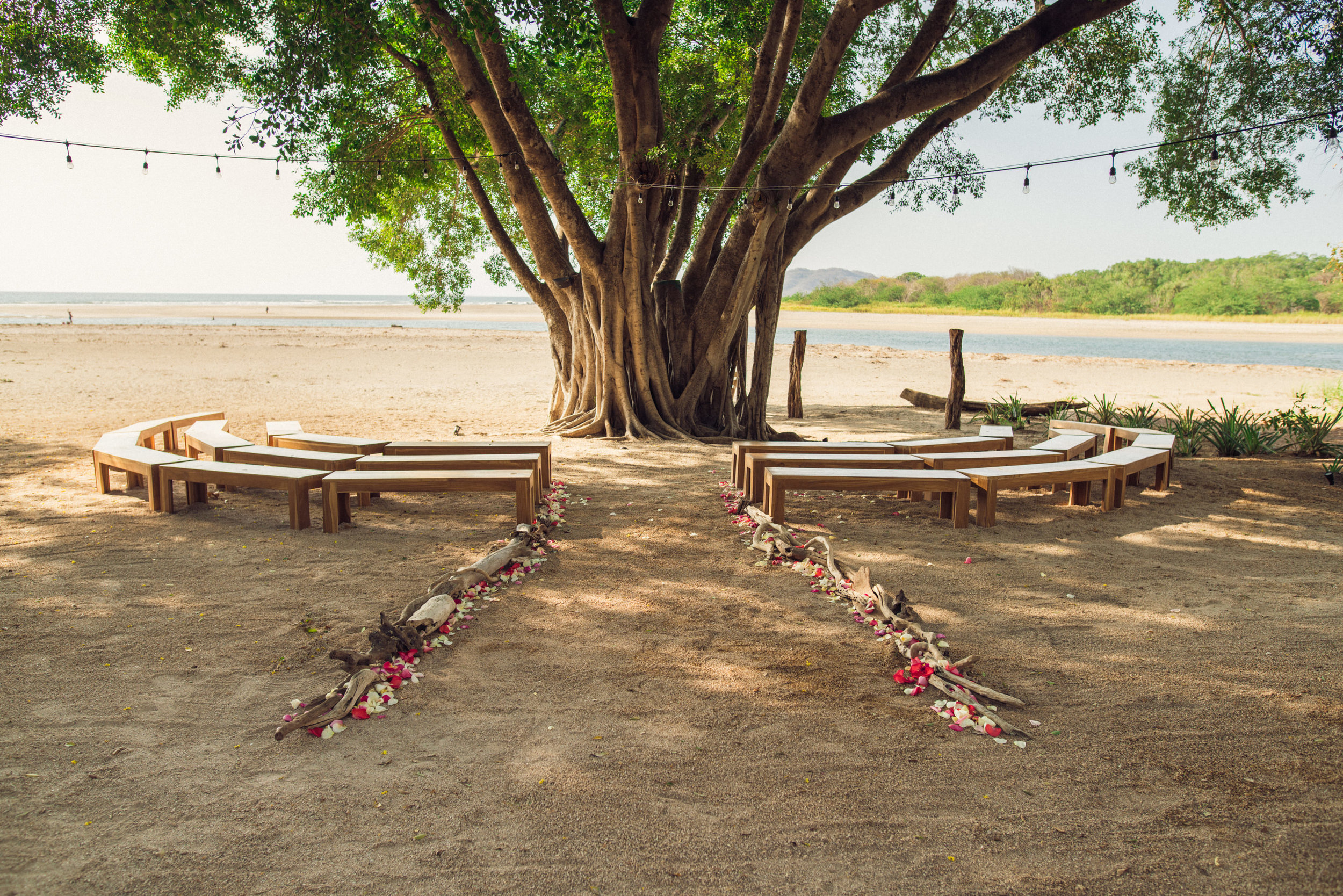 Seaside Soiree Wedding Table Design Four Winds Weddings Playa Conchal Costa Rica