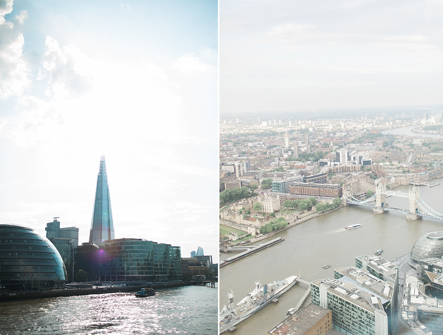 We went to the top of this building (The Shard)      .....      and had this view