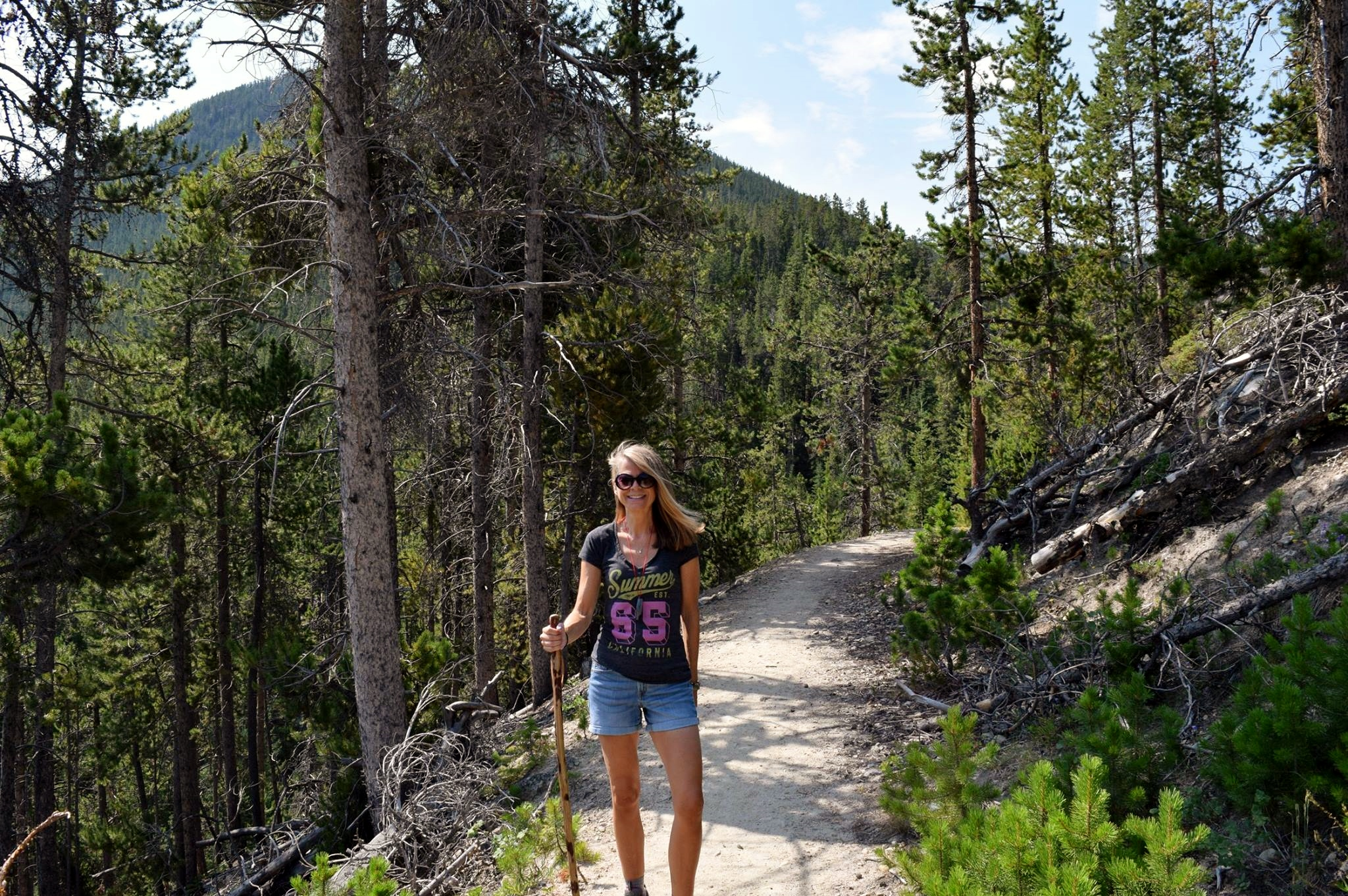 Vicky on a hike in the Beartooth Mountain Range, Montana, 2018