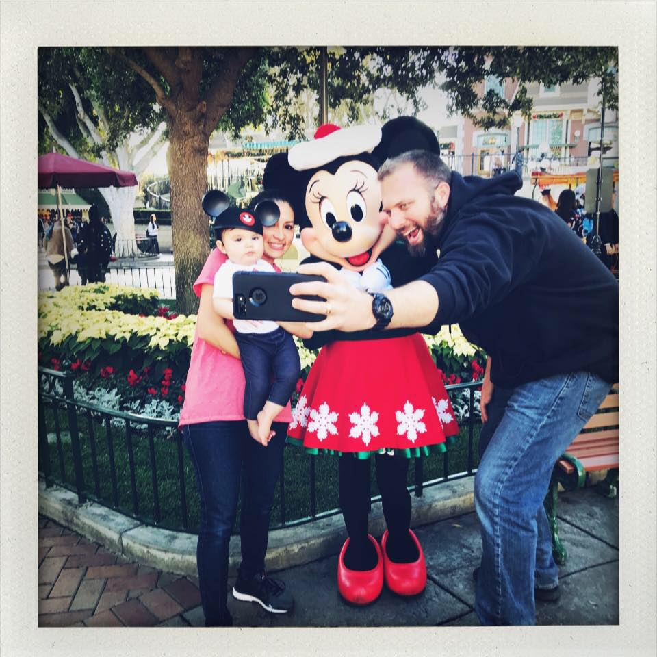 Minnie Mouse, Nikki, Eva James and Christopher (Dec 2017)