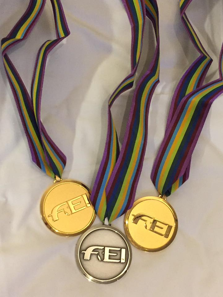 Jorge's Euro medals - two gold and a silver