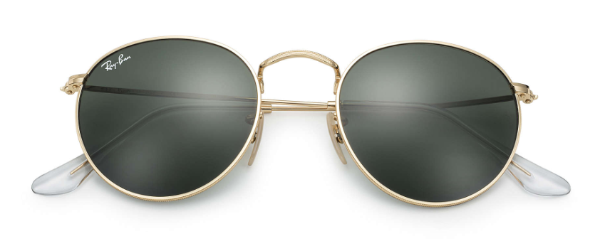 ray ban round metal sunglasses in gold.png