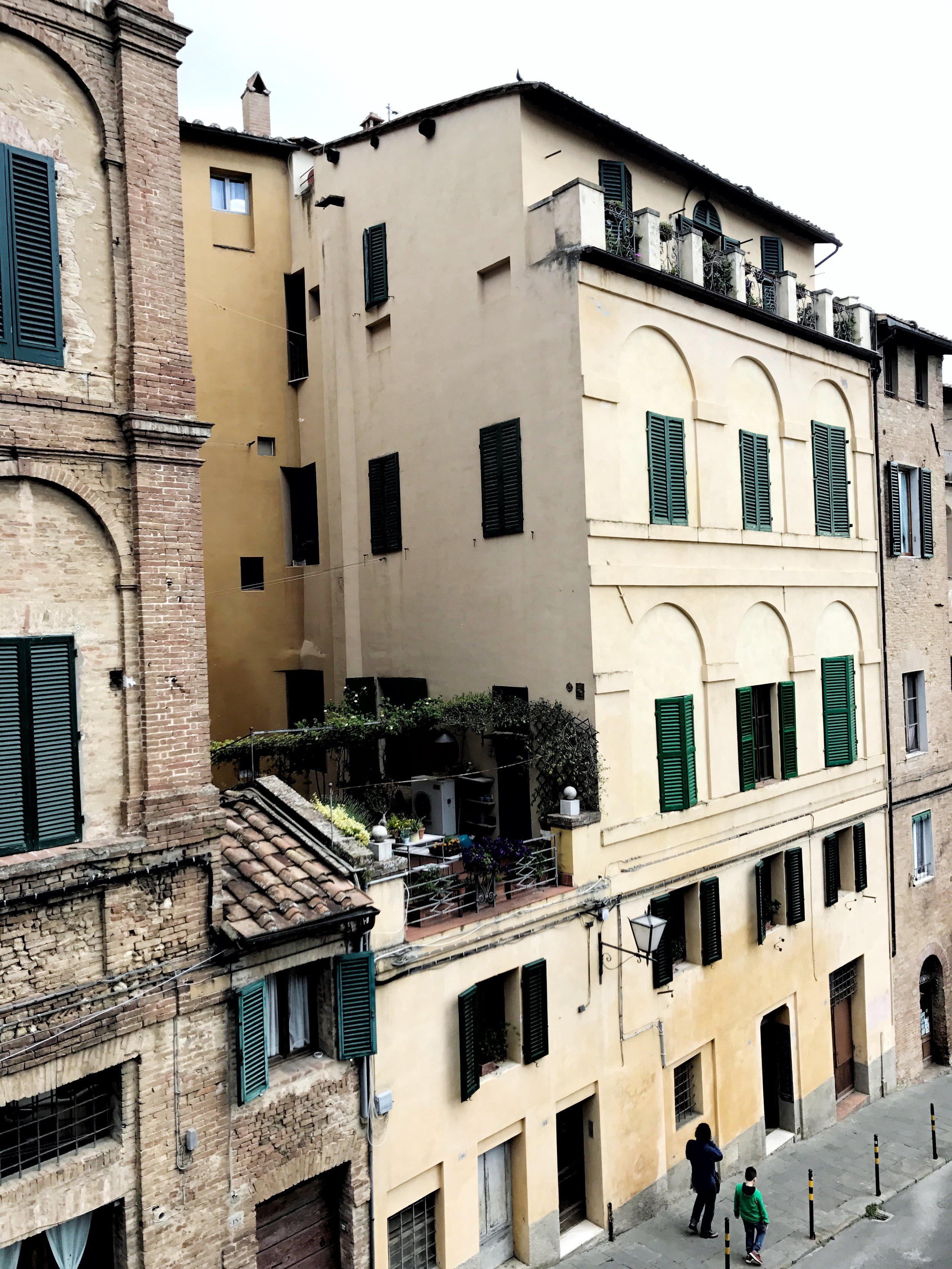 Rooftop garden in Siena, Italy
