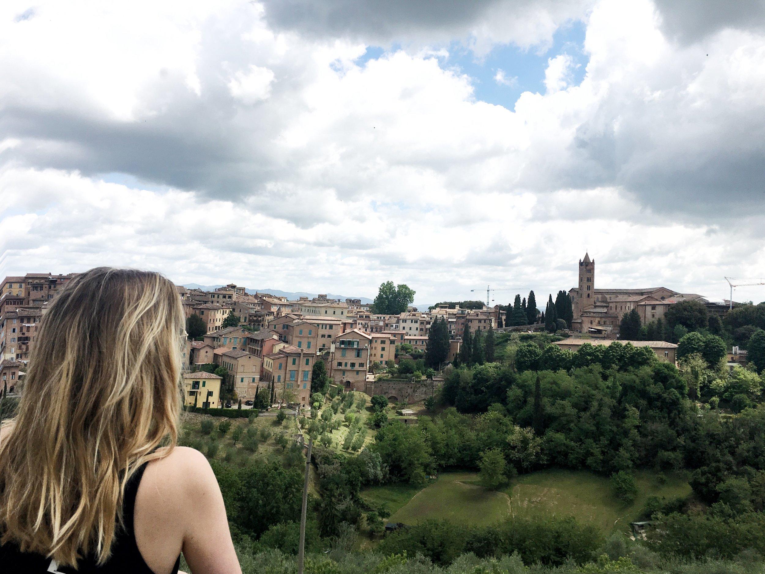 Panoramic view of Siena, Italy