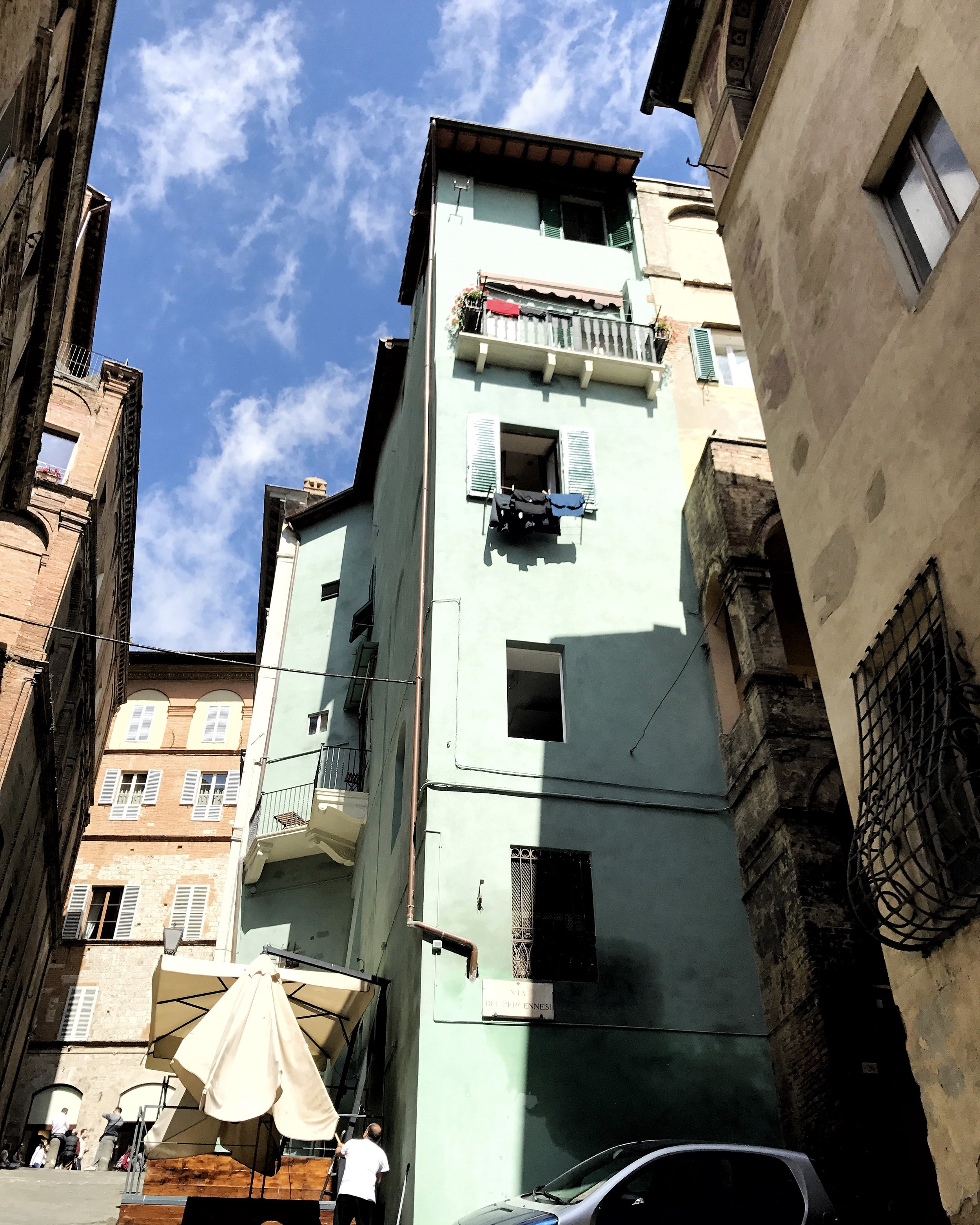 Street views of Siena, Italy