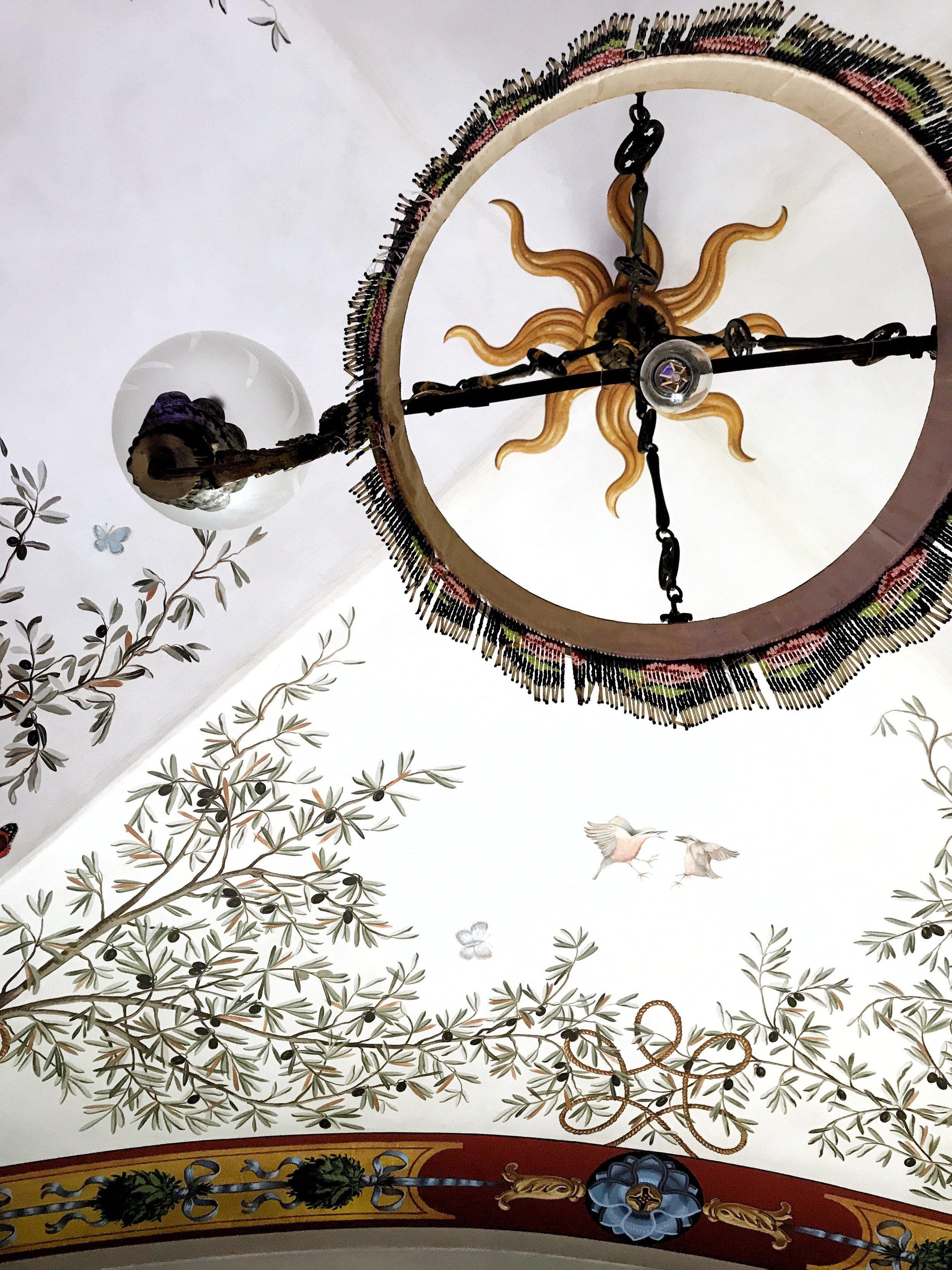 Ceiling in Relais degli Angeli hotel in Siena, Italy