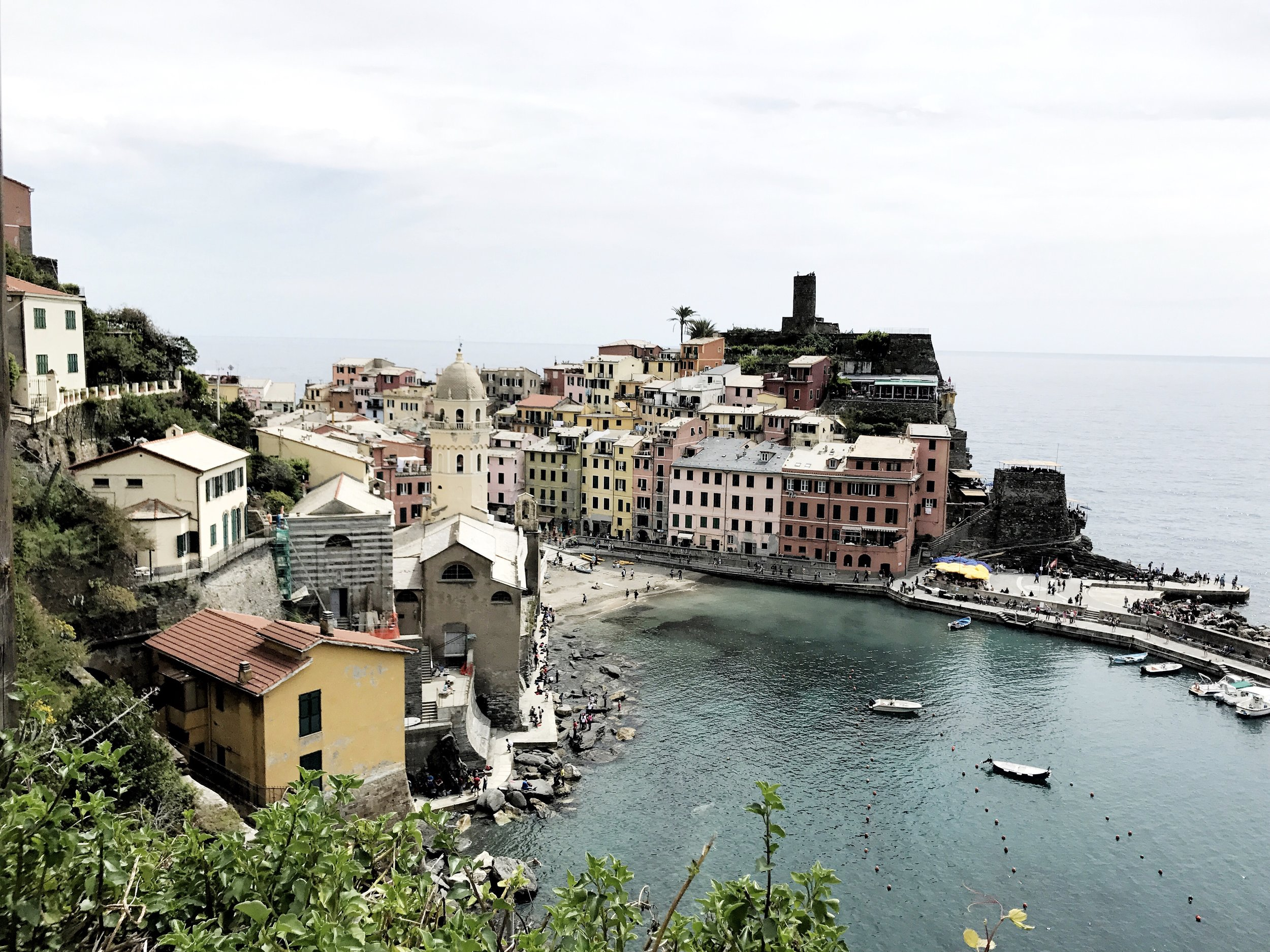 City of Vernazza, one of the five villages in Cinque Terre, Italy