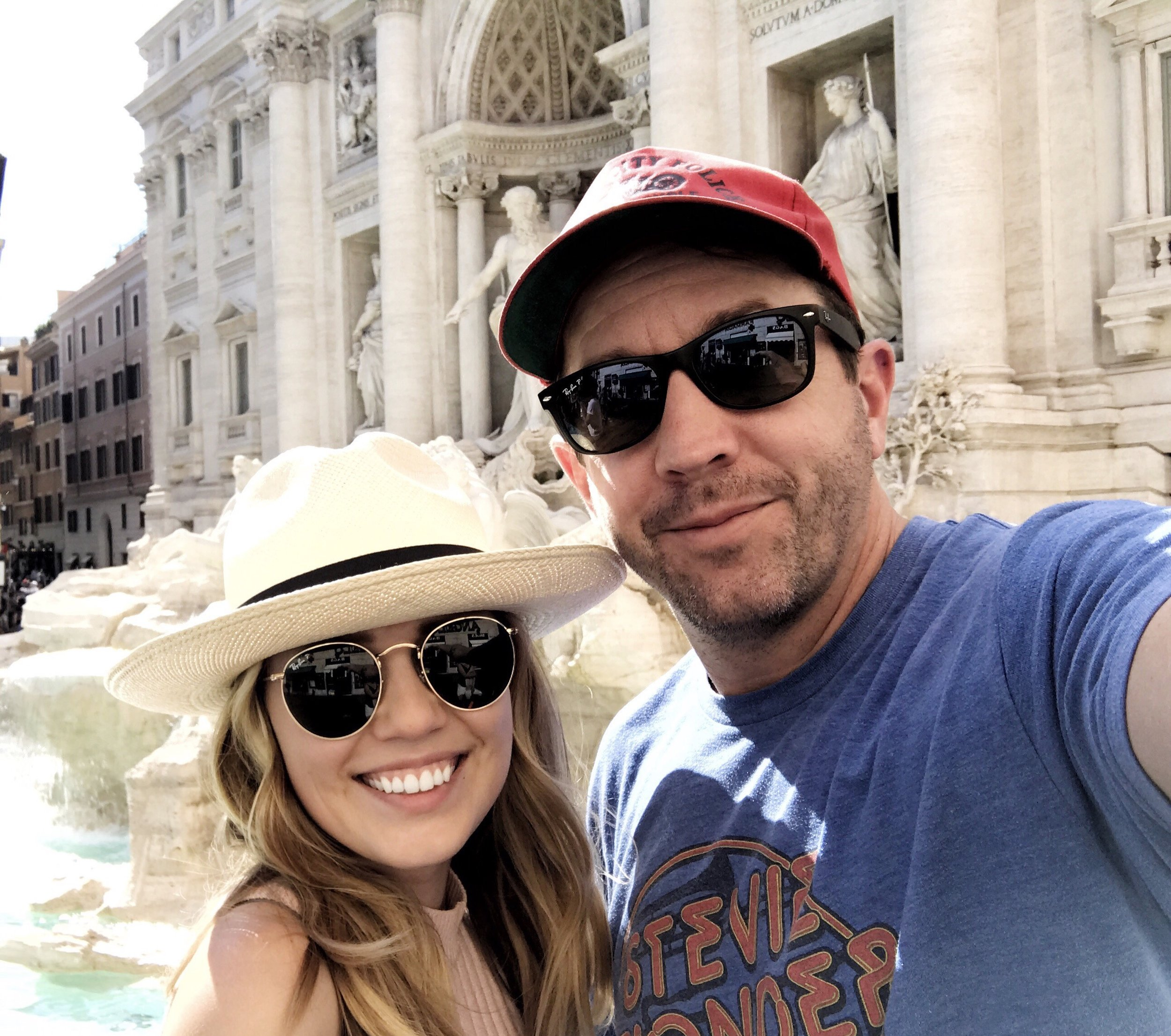 Me and Potsy at the Trevi Fountain <3