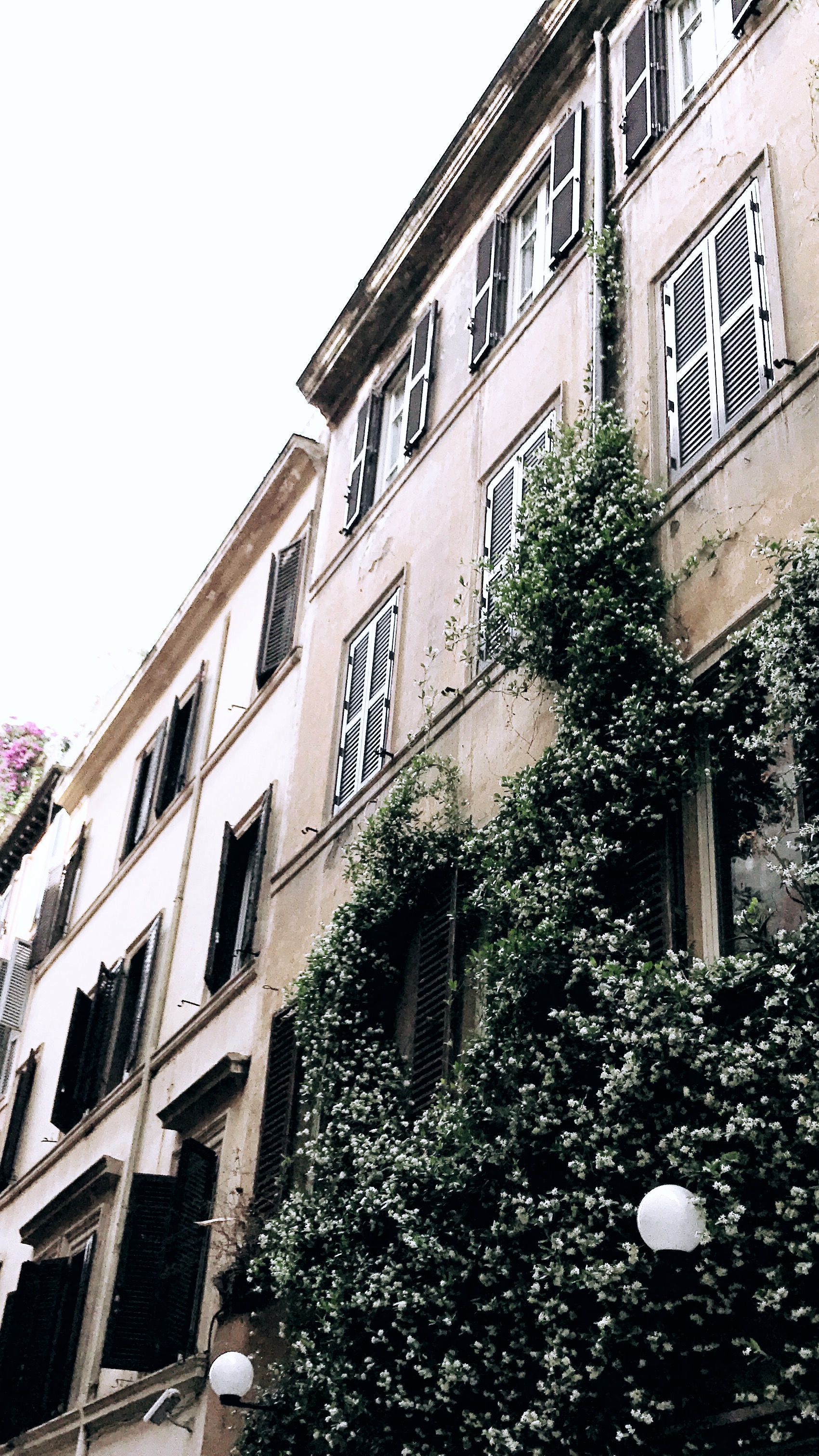 Side streets of Rome, Italy
