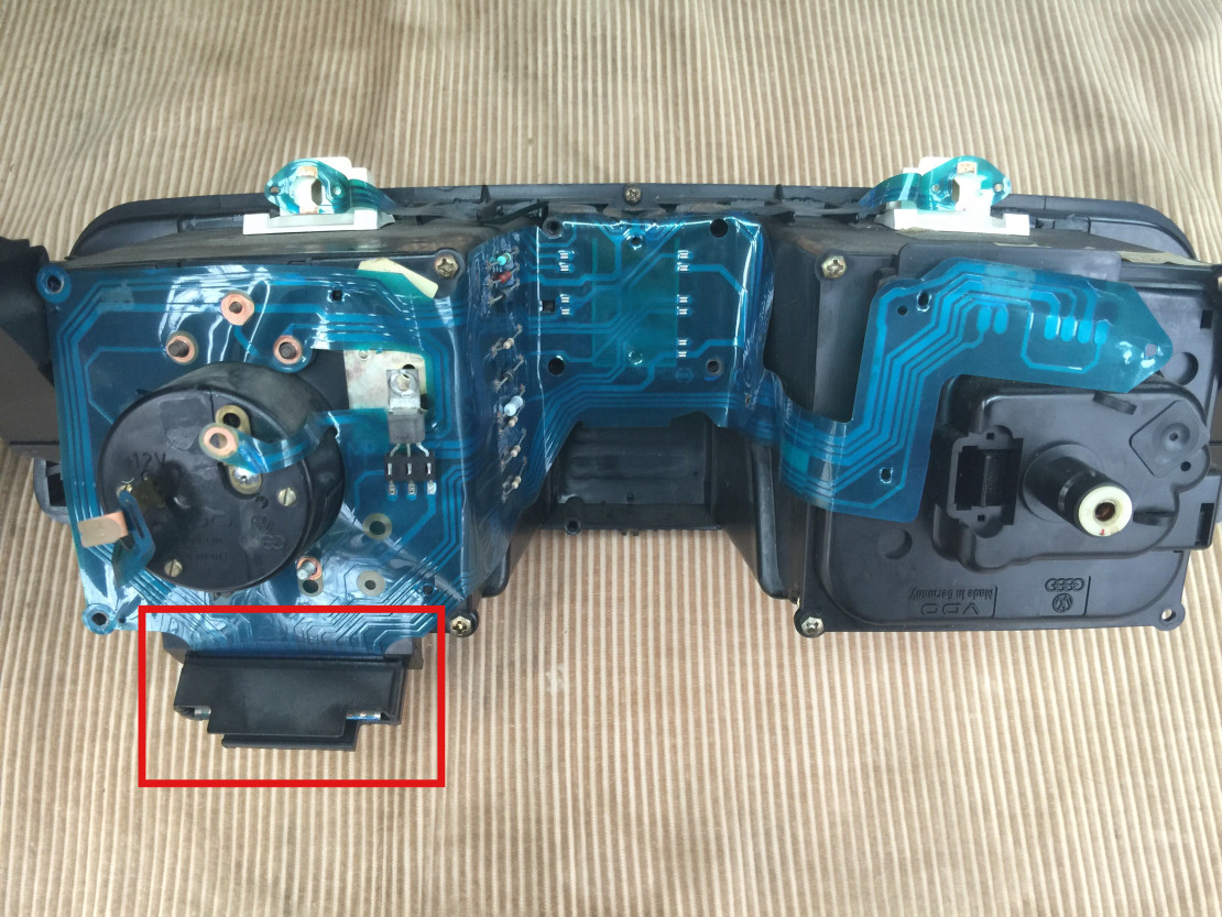 Remove clamp on main connector.