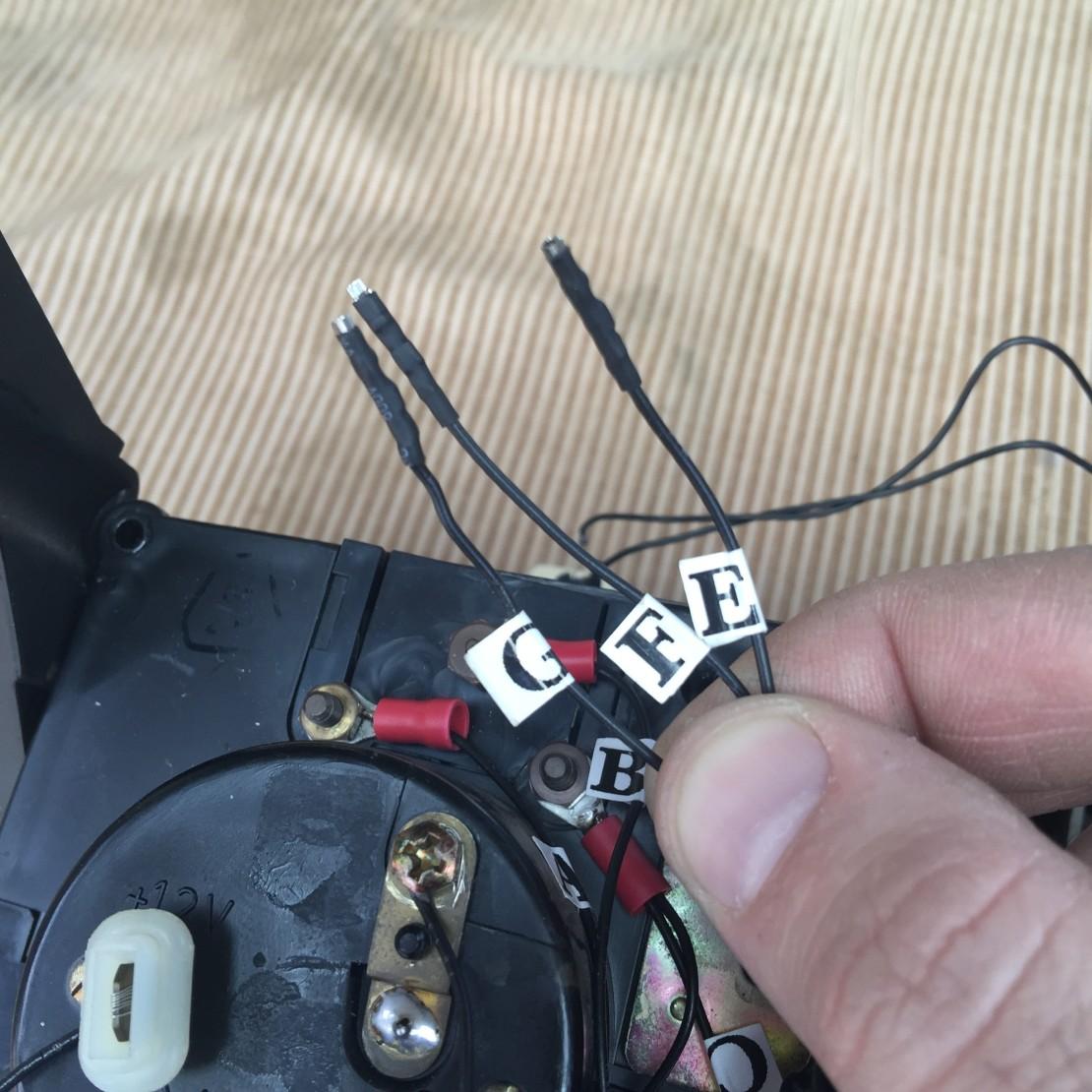 Tachometer wires.