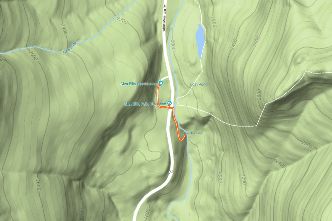 An attempt to paint the trail map. Terrain Map from Google Maps.
