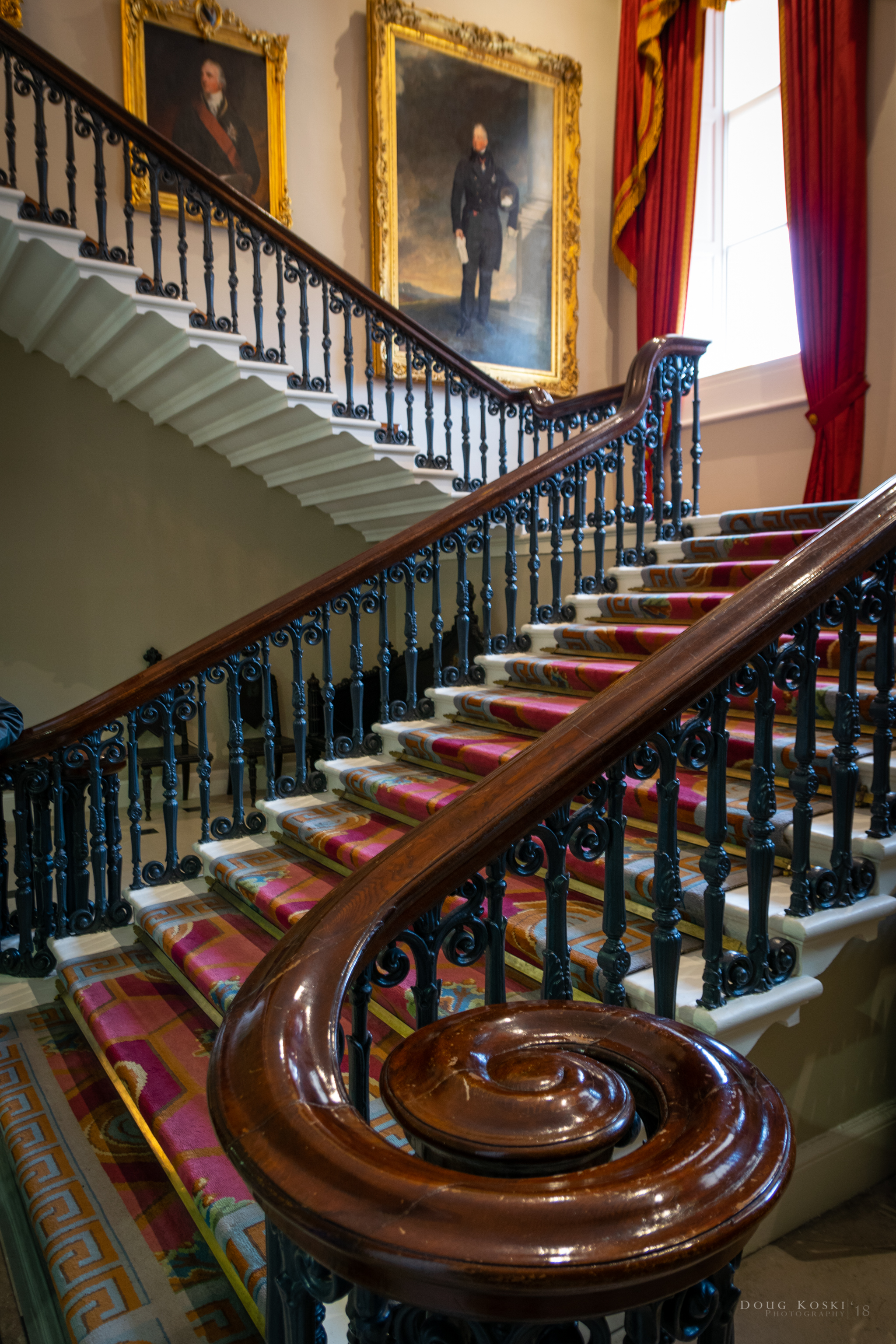 The Grand Staircase - Quite the statement to find upon entering the building.