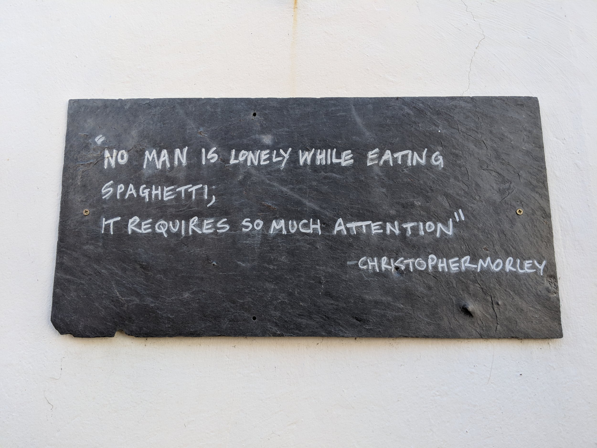 Quotes of Kinsale - There seemed to be an abundance of these little quote strewn through-out the town.