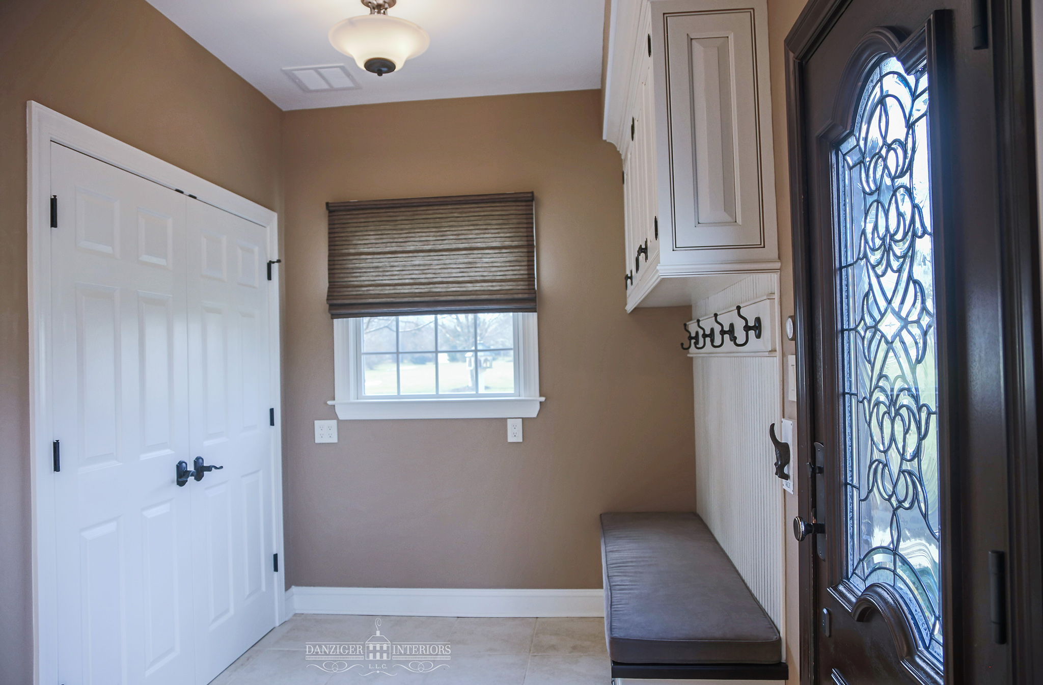Decorative finished side panel adds a finished look to this beautiful and functional space.