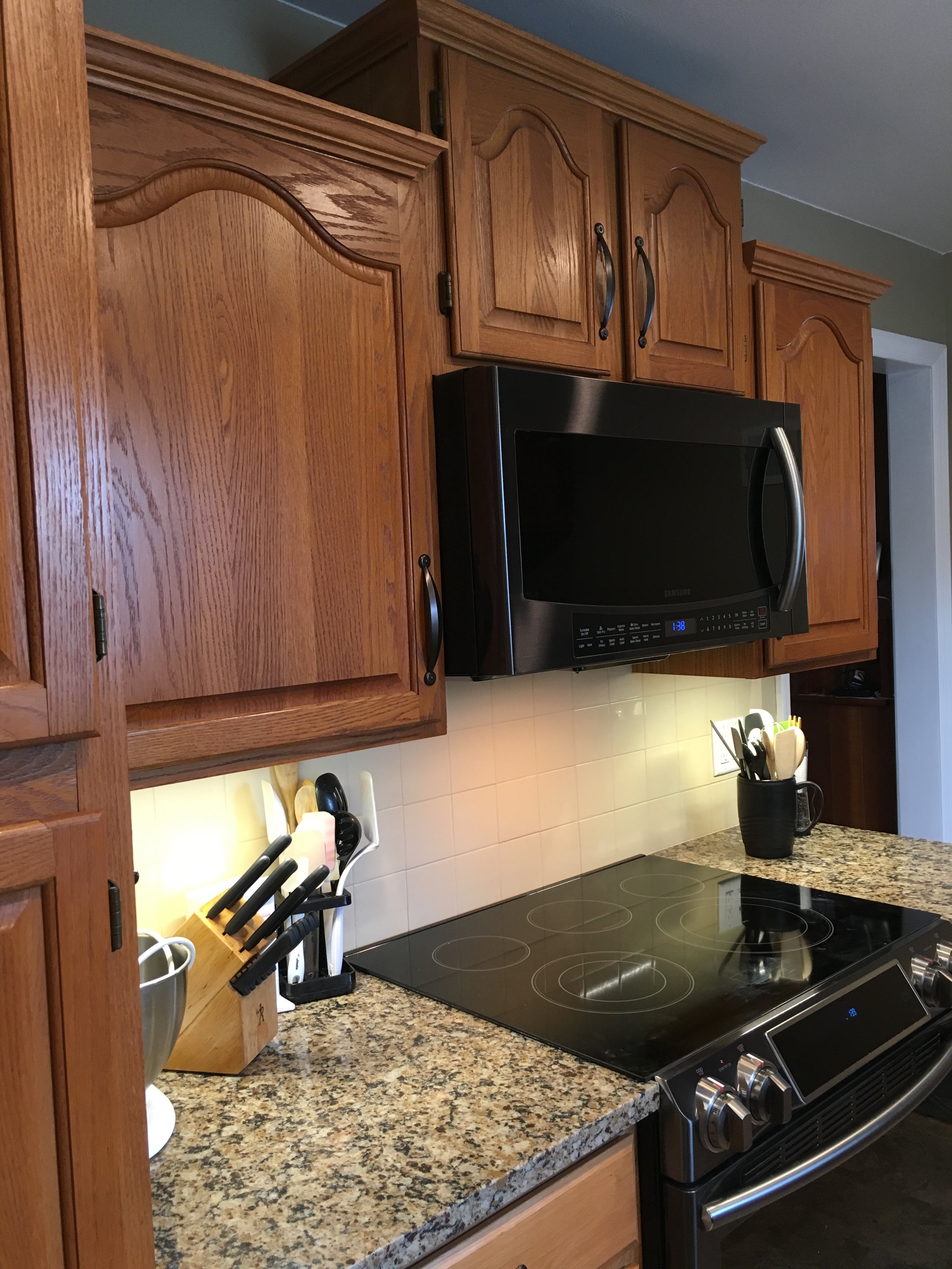 Lower cabinets for easier accessibility