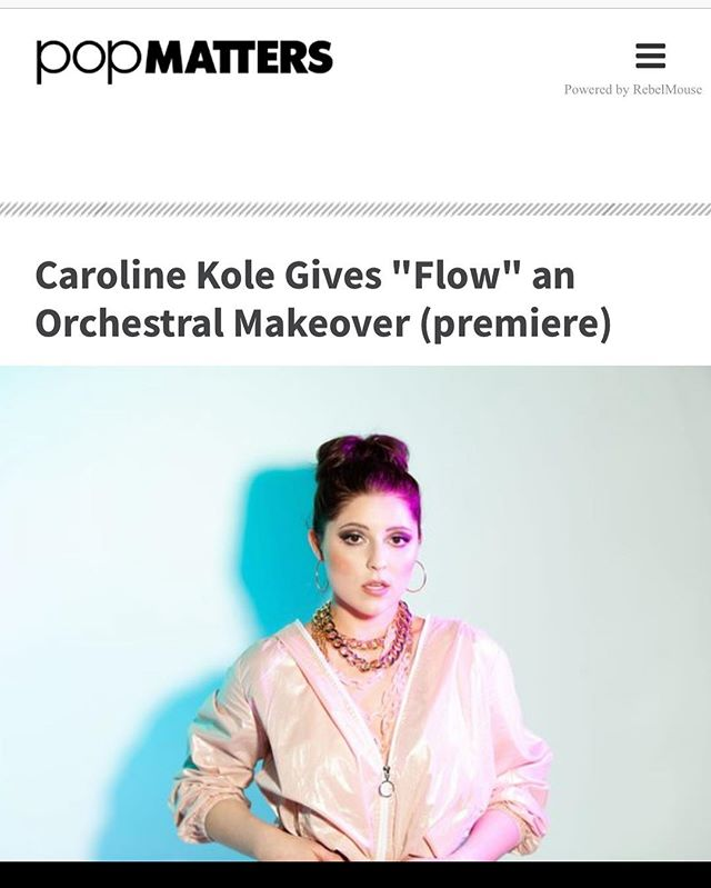 """Renovating out the electro pop sass of the original studio recording into an arrangement highlighting the songwriter's knack for soulful, emotion-driven performances..."" Thank you @popmatters and @jonathanfrahm for this fantastic premiere of the acoustic video for @carolinekole ""Flow"" 💕"