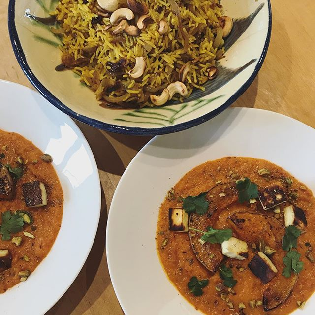 Recipe testing for a hen do next weekend. Paneer & butternut squash curry. #curry #vegcurry #comfortfood #sharingfood #butternutsquash #delicious