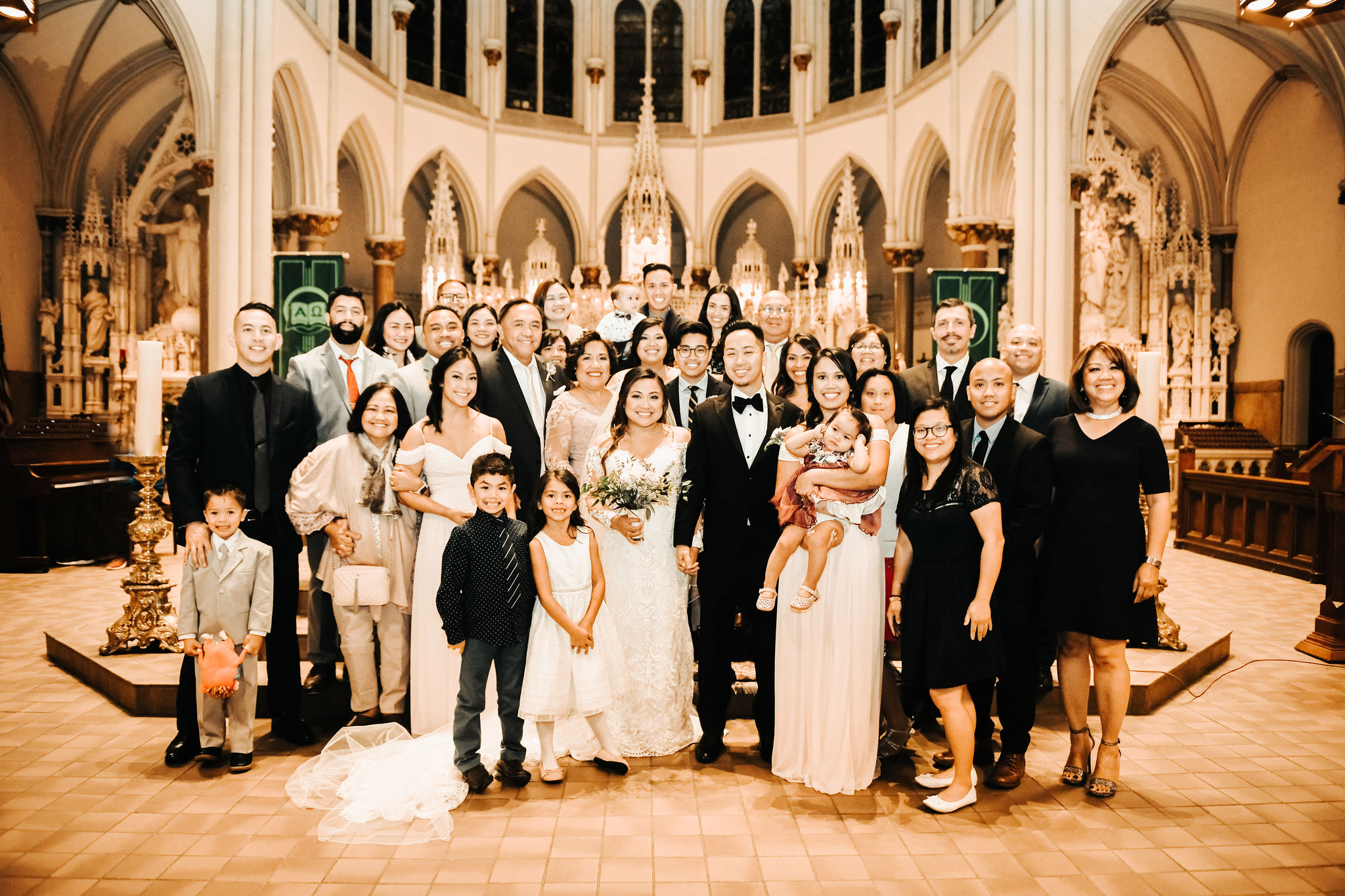 A family affair - Karen and Calvin's families traveled from all over the country to celebrate with the happy couple.