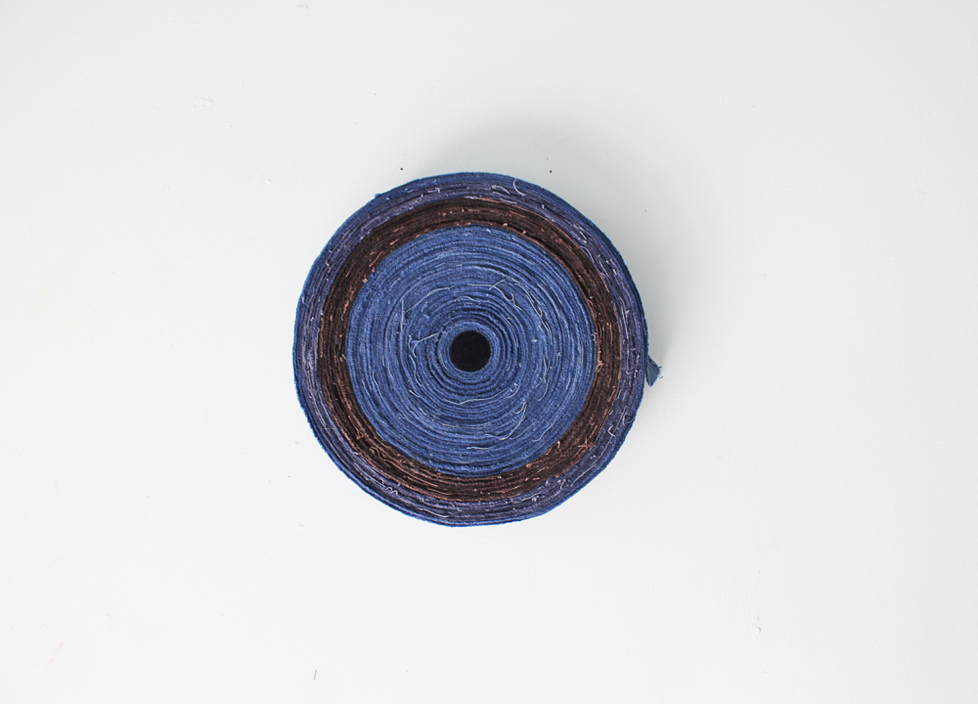 Recto/Verso   ,  2015  dyed canvas, thread, acrylic on wood