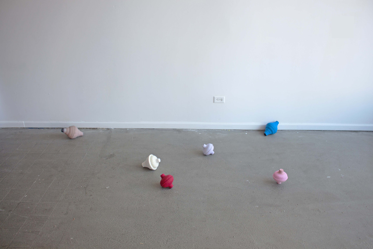 Untitled plungers   ,  2015  rubber, paper mache, gesso, casein