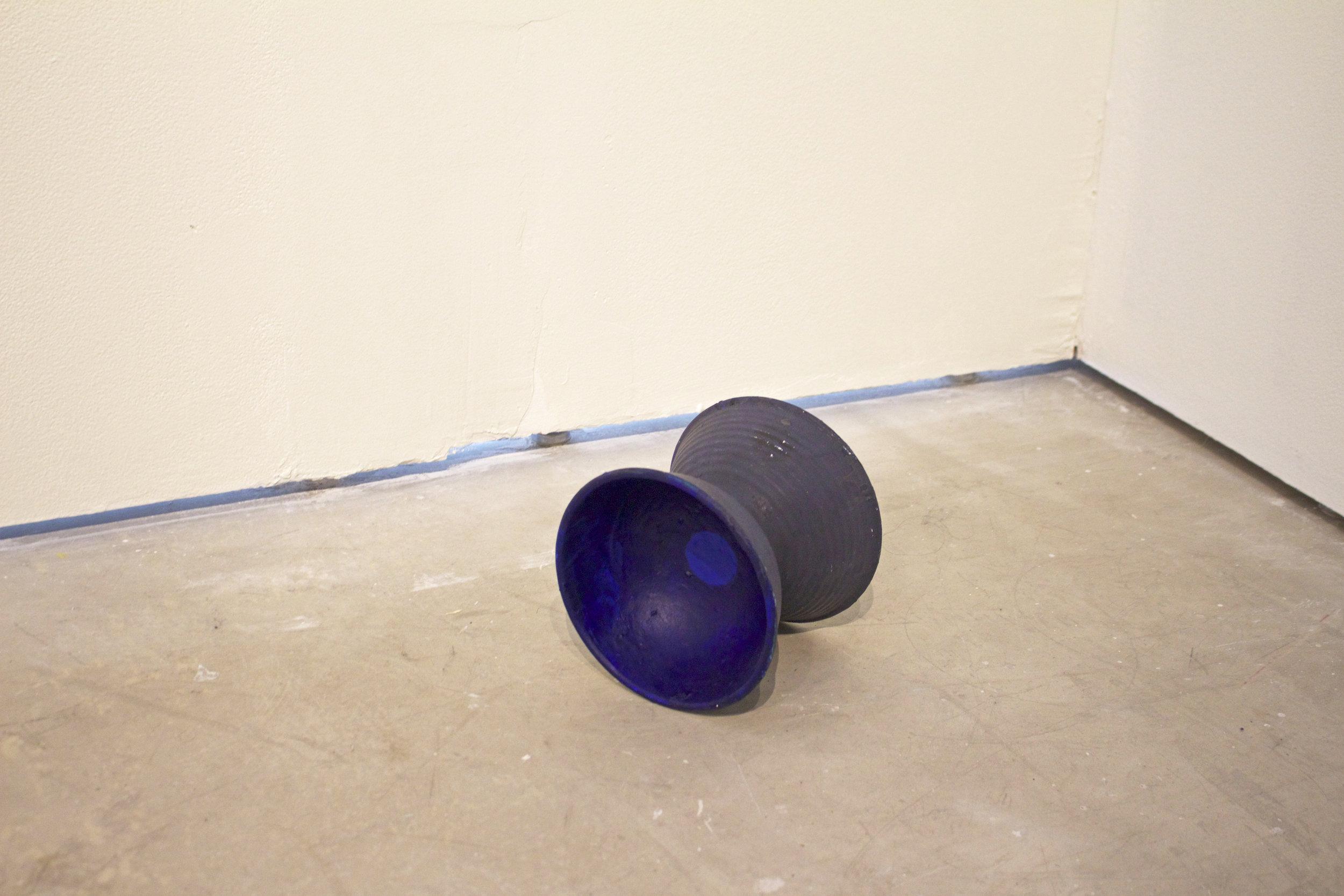 Grecian Dog Bowl   ,  2015  acrylic and casein on plastic bowls, glue