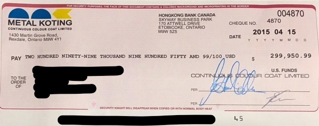 example of a fraudulent check