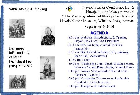 2010 Navajo Studies Symposium agenda