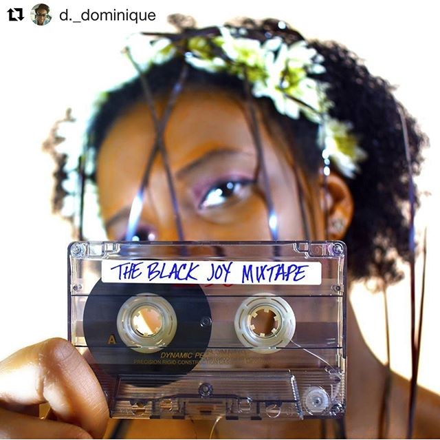 @d._dominique these photos and you are absolutely stunning! Thank you for seeing yourself in us because we certainly see ourselves in you as well. Keep creating and what an honor it is to be loved by y'all!  #BlackJoyMixtape #blackjoyjubilee 🔮 🔮 🔮 #Repost @d._dominique (@get_repost) ・・・ A year ago I got on Facebook and saw that @jazonyamine and @amberjphillips started a podcast called @blackjoymixtape.  I didn't even have the sound cloud app on my phone, but I downloaded it and got my life immediately.  Over the past year this podcast has done more to influence my life than anything else.  Two podcasters that look like me, who talk about what I want to hear about, and are unapologetic in their petty. Every week they teach me to love myself a little more and I'm grateful. - - - - #theblackjoymixtape #jubilee #dayone #mixtape #blackjoy #petty #flowercrown #twerkislife #blackwomenthegods #photography #photographerofcolor #naturalhair #tape #artsy #composition #selflove #podcast