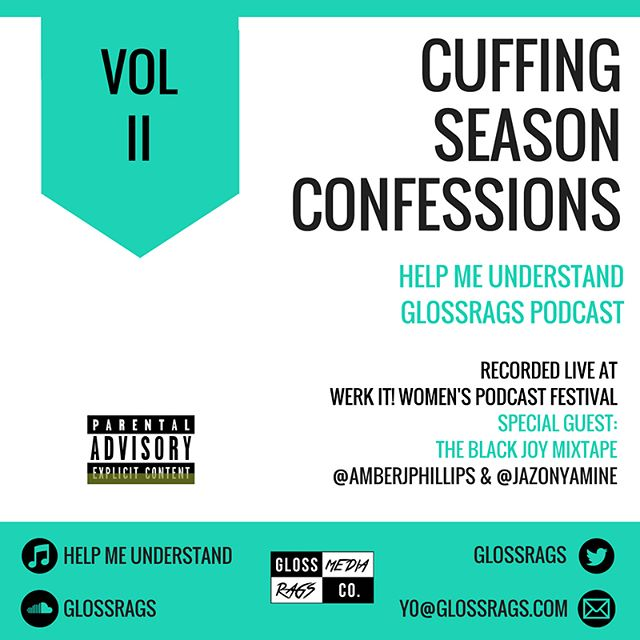 """Black Joy Mixtape Crossover Surprise!! #SwipeLeft to hear more!  As you know, your girls had an AH-MAZING time at @wnycstudios Werk It Festival for #WomenPodcasters. In LA, we met amazing Black women like @randigloss who is the co-host of a podcast called """"Help Me Understand"""". @jazonyamine and @amberjphillips share a story that they would NEVER give y'all on the Black Joy Mixtape about our best and worst Cuffing Season moments! Do listen! Do share! Do show love to another Black woman podcaster! Our goal is to do more of this in 2018 with other Black podcasters so stay tuned!  #BlackJoyMixtape  #GlossRags #HelpMeUnderstandPodcast #podin #podincolor"""