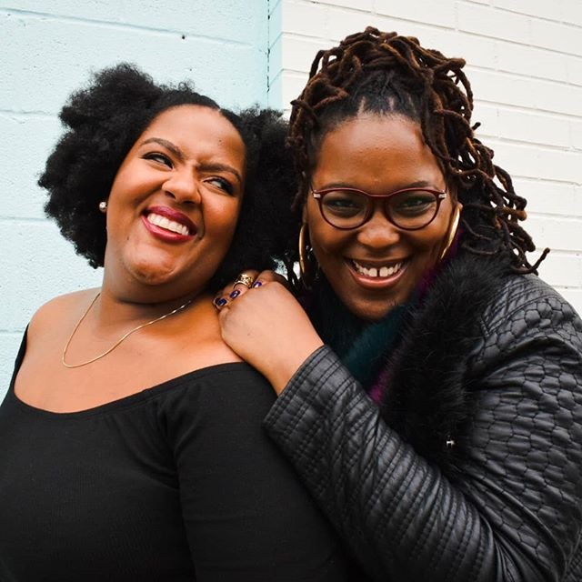Yo fav news and politics podcast took headshots with amazing photographer @rissybobby, and we couldn't be happier! Swipe to catch some of our fav outtakes that truly capture #BlackJoyMixtape as a duo: crackin up, running numbers, and impersonatin our favorite Destiny's Child moments 😂 💜 💜 💜 #BlackJoy #Blackpodcast #podcastsincolor #BlackHistoryMonth