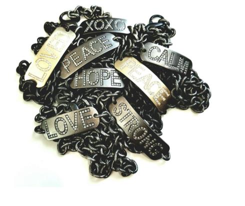 LizaBeth Mantra Bracelets with Diamonds are a great everyday piece