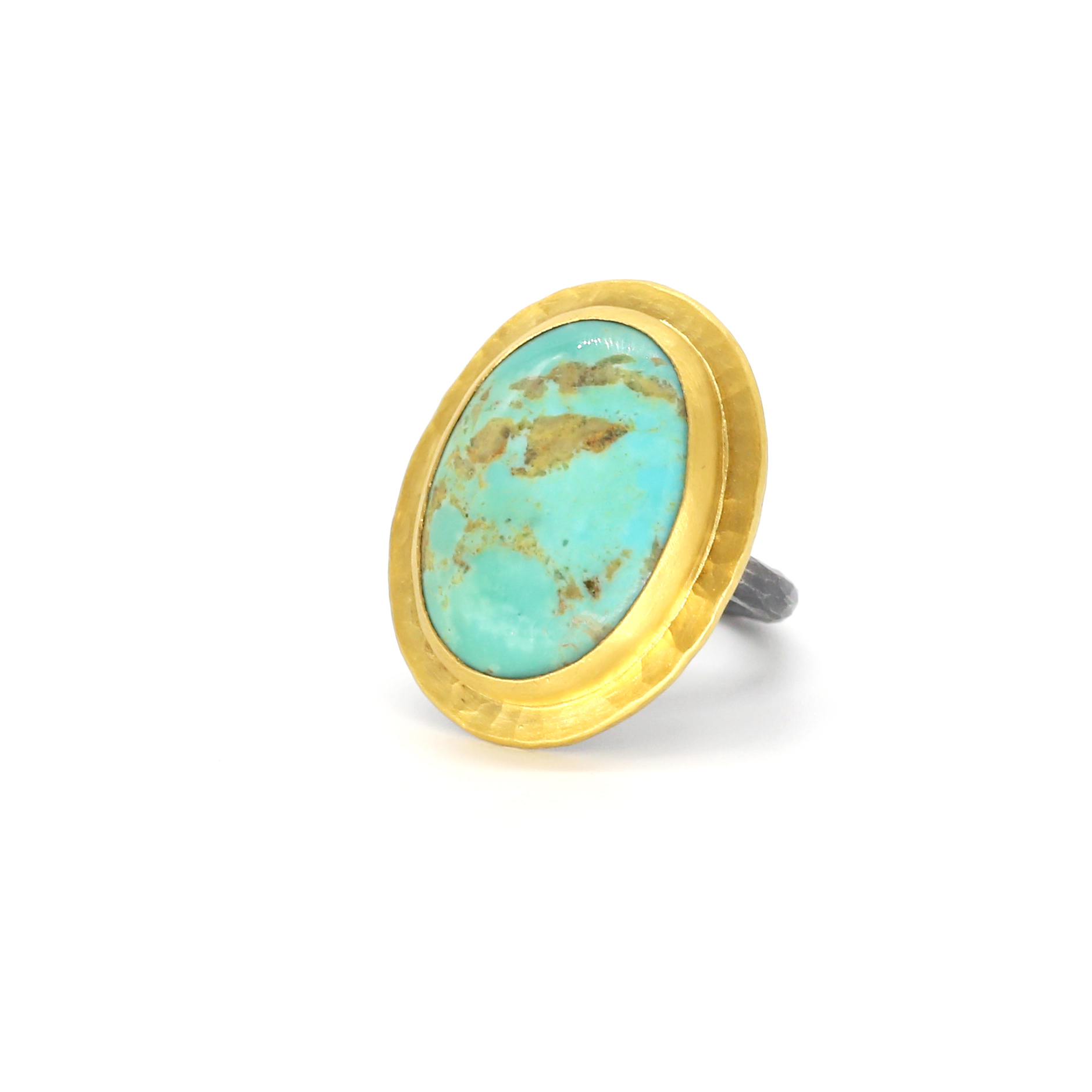 Turquoisering,gold ring,turquiose ring gold,turquoise,24k gold, Turquoise Ring