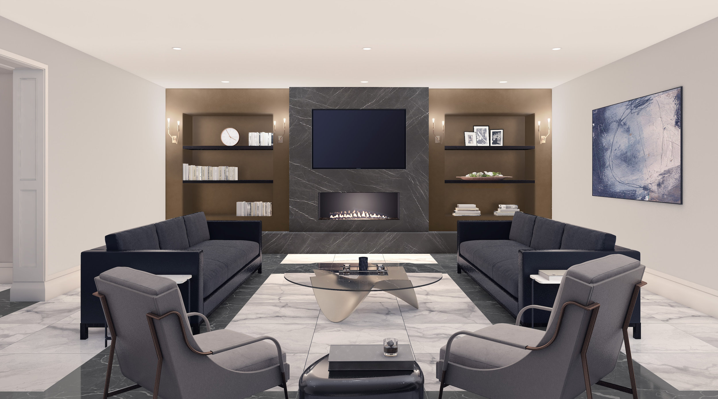 Lower Level Fireplace Lounge