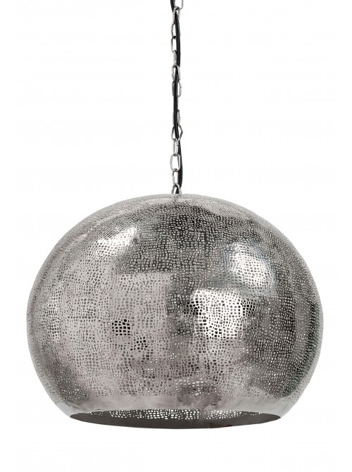 hammered silver pendant light