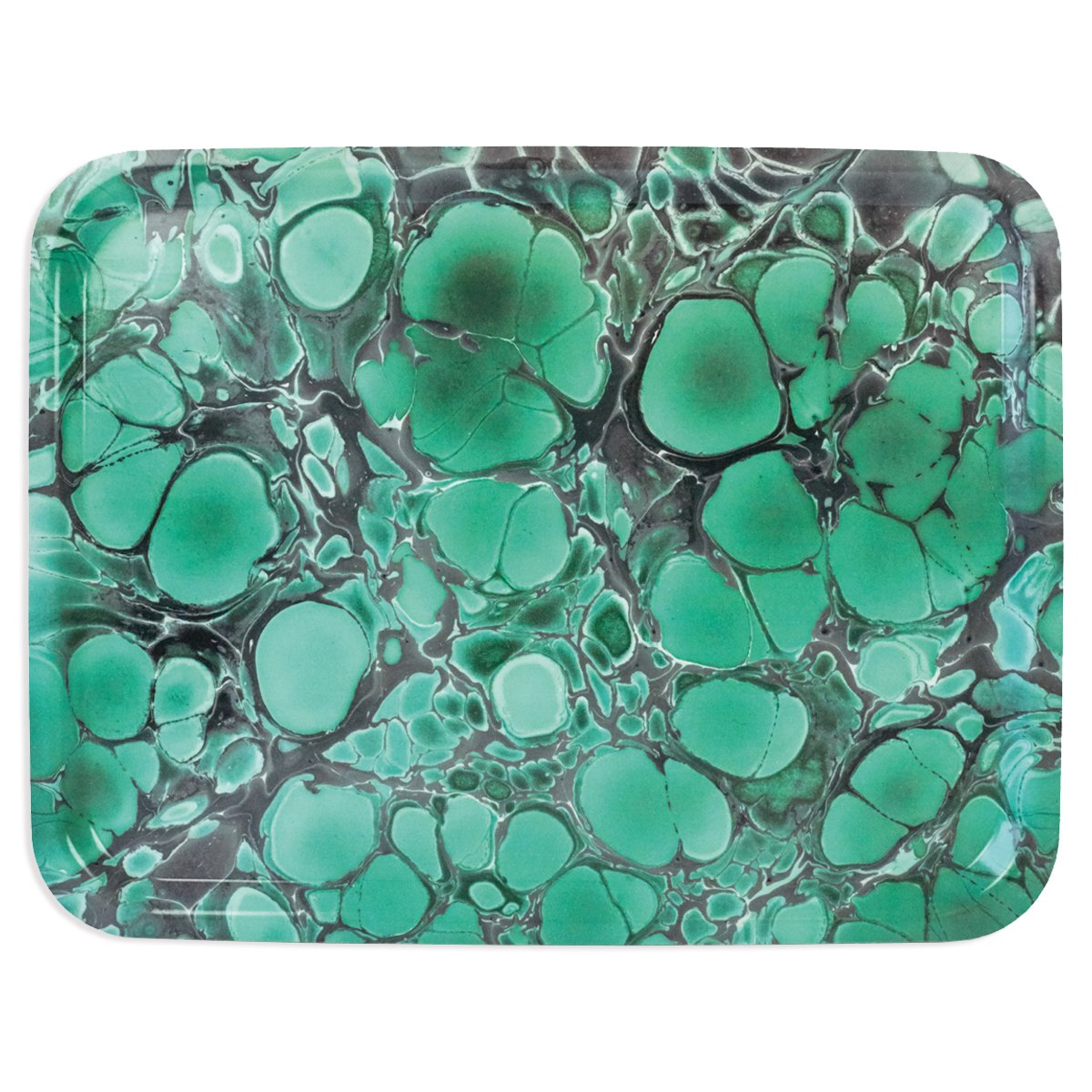 emerald green serving tray