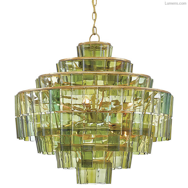currey & co. green chandelier