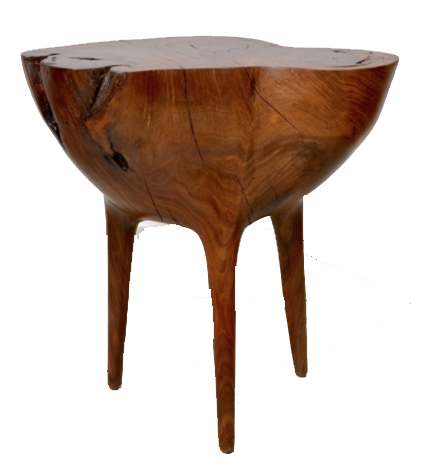 stahl + band wooden stool