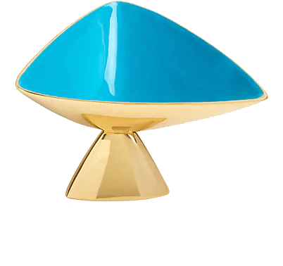 turquoise + brass bowl