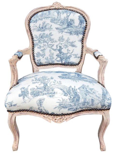 baroque style french toile chair