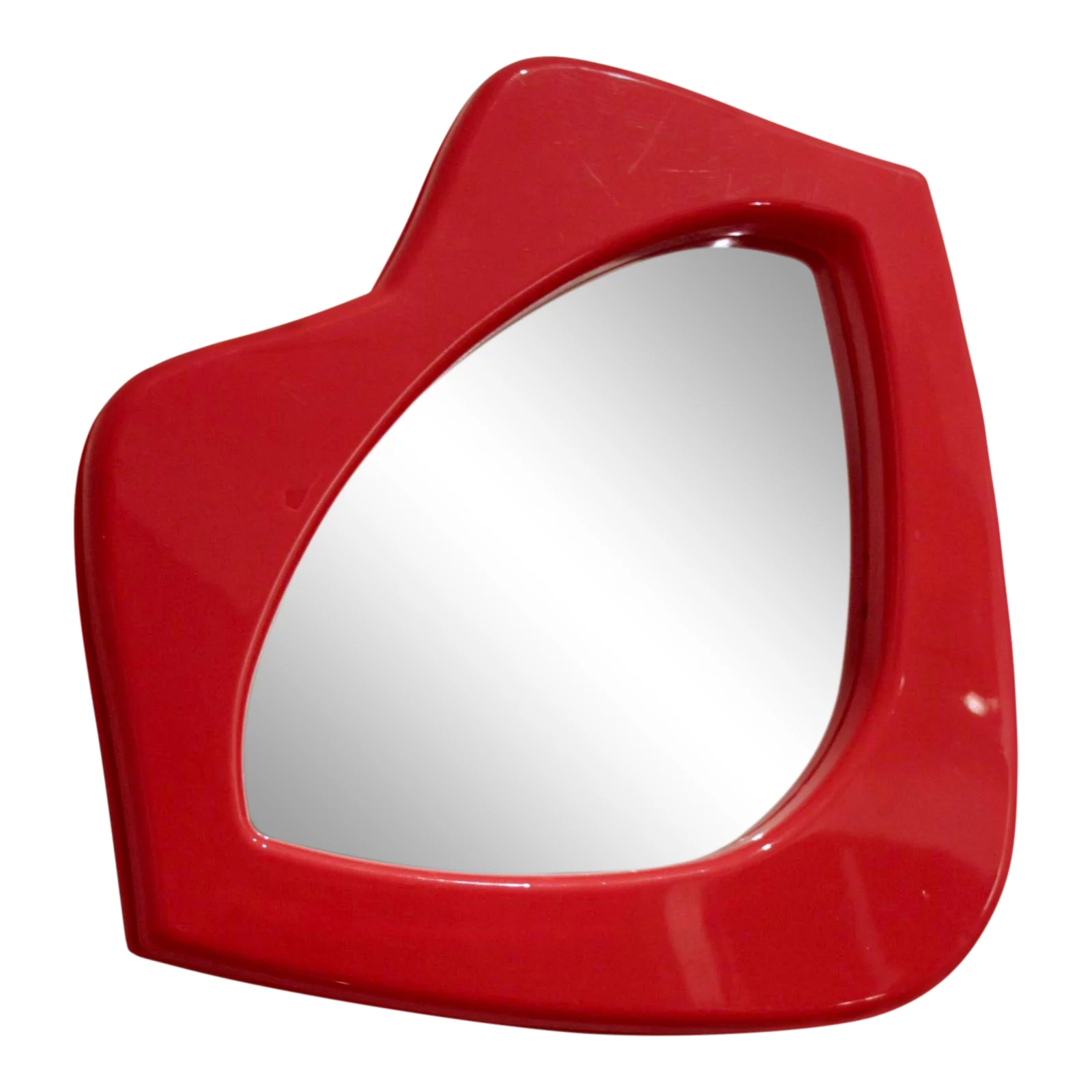 vintage red lips mirror