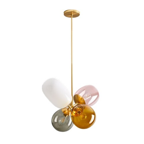 To say we 💗 this balloon glass light off our latest styleboard would be an understatement. #obsessed 💡  #wornanddomestic #allshopnotalk #autumninnewyork #nyc #coloredglass #balloonglasspendant